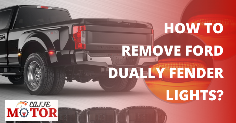How To Remove Ford Dually Fender Lights?